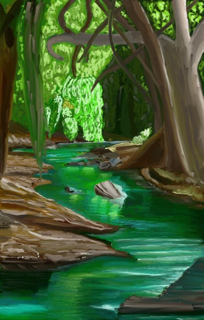 a river in the jungle | tinie | Digital Drawing | PENUP