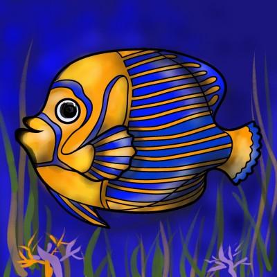 줄무늬물고기.. Bald fish..   mjyoo   Digital Drawing   PENUP