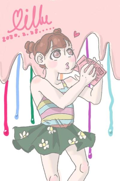 Milk sweet! | yangfirstwin323 | Digital Drawing | PENUP