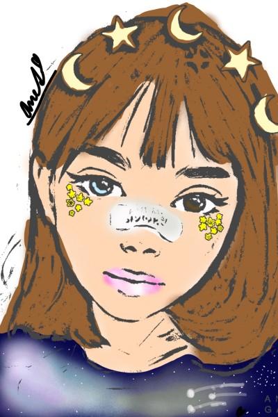 Portrait Digital Drawing | aneta_cz | PENUP