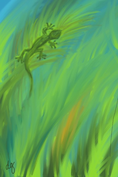 gecko on palm  | RNRet | Digital Drawing | PENUP