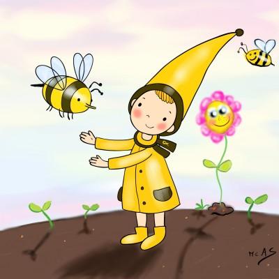 El regne de les abelles    Carme   Digital Drawing   PENUP