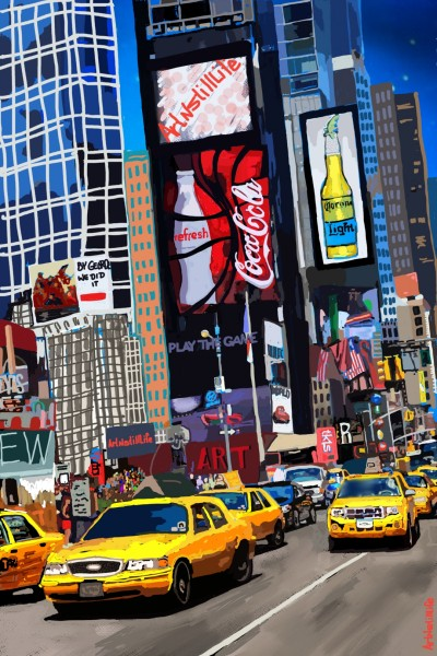 Time Square... | ArtNstillLife | Digital Drawing | PENUP