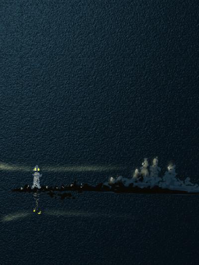 A lighthouse in Maine | AntoineKhanji | Digital Drawing | PENUP