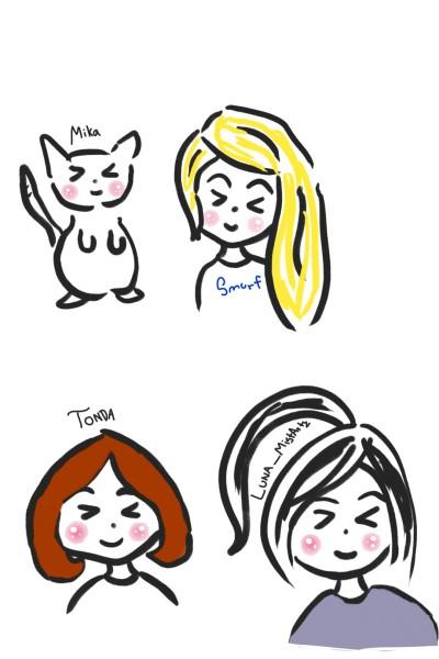 For :@smurf,@Mika,@Tonda and @Luna_MistArtz ❣ | quietplace | Digital Drawing | PENUP