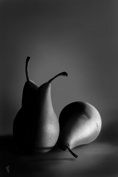 A Trio of Pears | TonyFarvio | Digital Drawing | PENUP