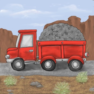 gravel truck | mary | Digital Drawing | PENUP
