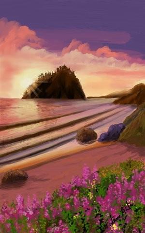 sunset ..digital version ... | FatemaMusharrof | Digital Drawing | PENUP