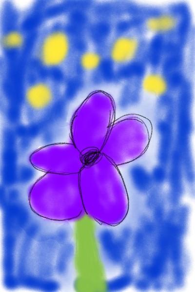 Purple Flower in the NIGHT | avictorias13 | Digital Drawing | PENUP