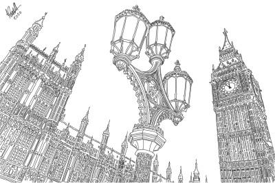 Houses of Parliament London | StevenCarroll | Digital Drawing | PENUP