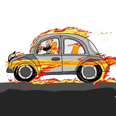 "ghost ""car"" rider | kinstart | Digital Drawing | PENUP"