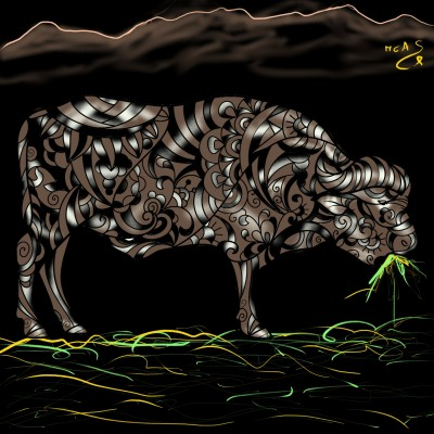 Búfal menjant herba  | Carme | Digital Drawing | PENUP