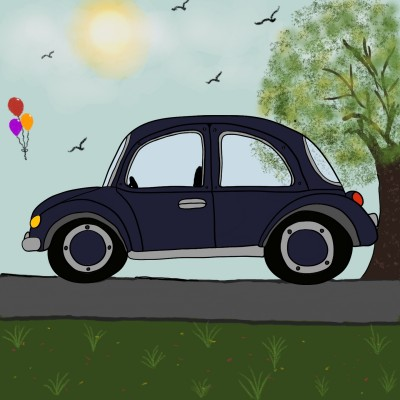 PArKed On THe SidE | Mrs.B | Digital Drawing | PENUP
