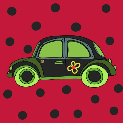 Ladybug car | Yagmur | Digital Drawing | PENUP