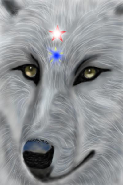My wolf. My love  | pokapoka | Digital Drawing | PENUP