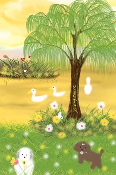 15.평화로운 오후  Peaceful noon time. | youngsook | Digital Drawing | PENUP