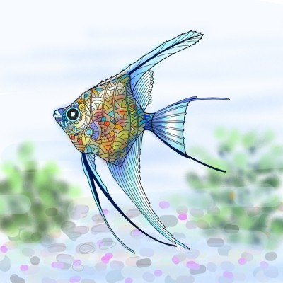 열대어.. tropical fish.. | mjyoo | Digital Drawing | PENUP