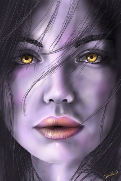color test = vampire style | Doodilight | Digital Drawing | PENUP