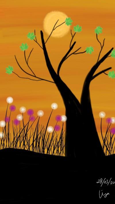 Tree silhouette  | lisa2706 | Digital Drawing | PENUP