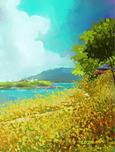 June~River side | SSB | Digital Drawing | PENUP