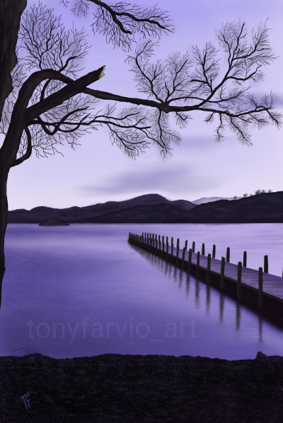 Coniston Water in April | TonyFarvio | Digital Drawing | PENUP