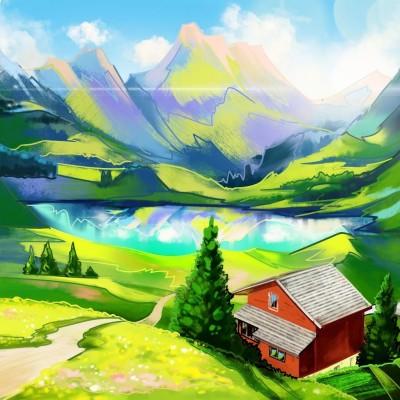 Mountain  House | Gaycouple | Digital Drawing | PENUP