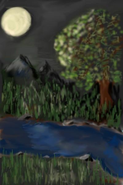 Nighttime Serenity  | RNRet | Digital Drawing | PENUP