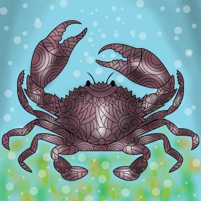 A crab beneath the sea | Venkatesh | Digital Drawing | PENUP