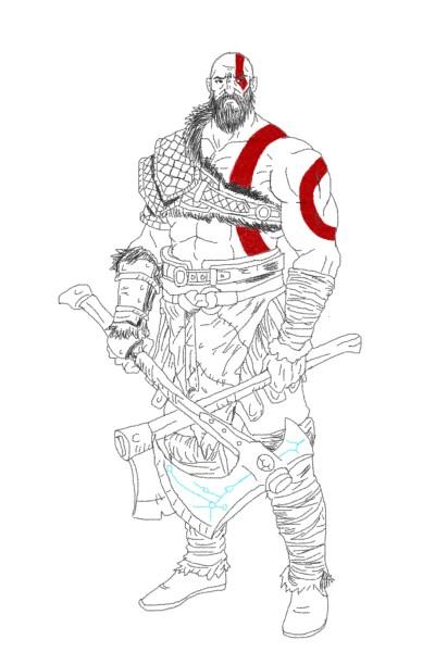 The God Of War Himself | British_Viking | Digital Drawing | PENUP