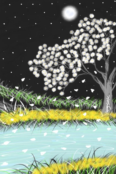 56. Ending cherry blossom  | youngsook | Digital Drawing | PENUP