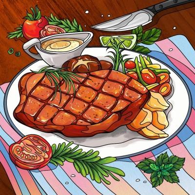 Steak | Gaycouple | Digital Drawing | PENUP
