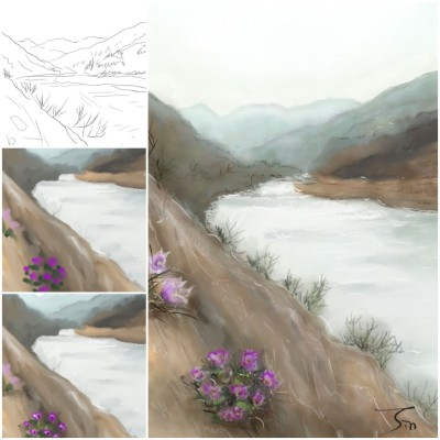 Landscape Digital Drawing | jinhee | PENUP
