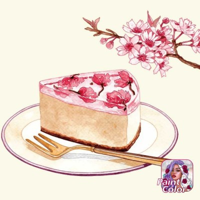 Flower  Cake | Gaycouple | Digital Drawing | PENUP