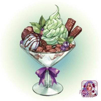Green  Tea  Ice  Cream  | Gaycouple | Digital Drawing | PENUP