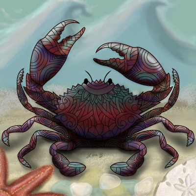 Crab Speaking His Mind | LisaBme | Digital Drawing | PENUP