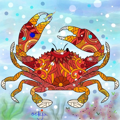 The pride of a crab's figure♡ | ockja | Digital Drawing | PENUP