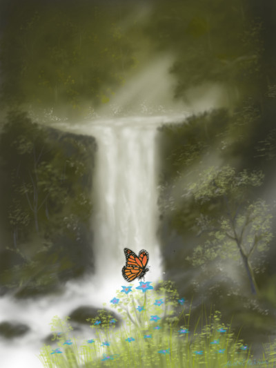 Lonely butterfly  | abdulrahman | Digital Drawing | PENUP