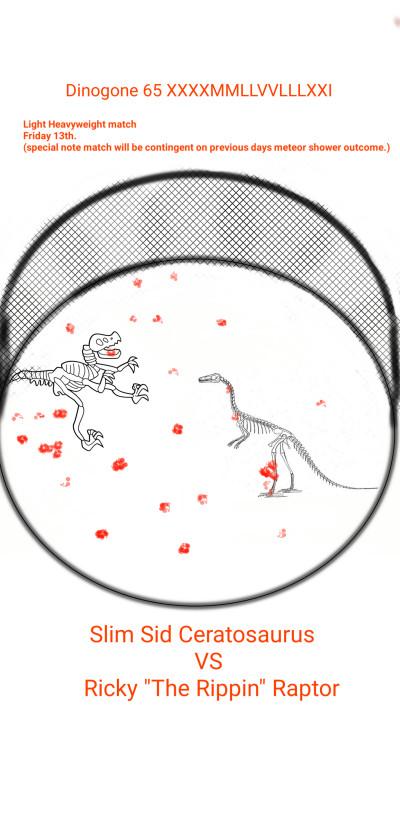 Dinogone light Heavyweight match  | ChrisPBacon | Digital Drawing | PENUP