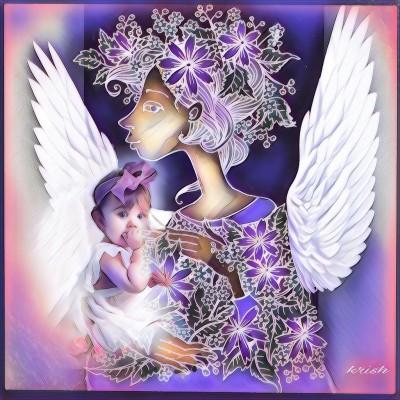 Angels ♡♡♡ Coloring  | krish | Digital Drawing | PENUP