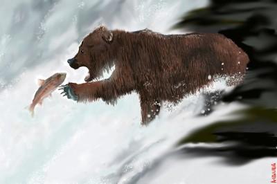Salmon River... | ArtNstillLife | Digital Drawing | PENUP
