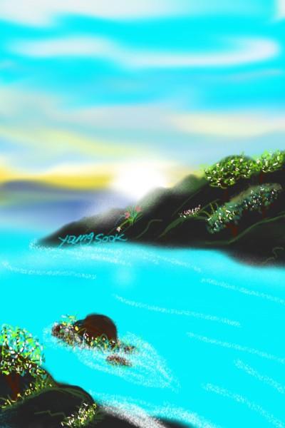 63.새벽 강가 Dawn riverside. | youngsook | Digital Drawing | PENUP