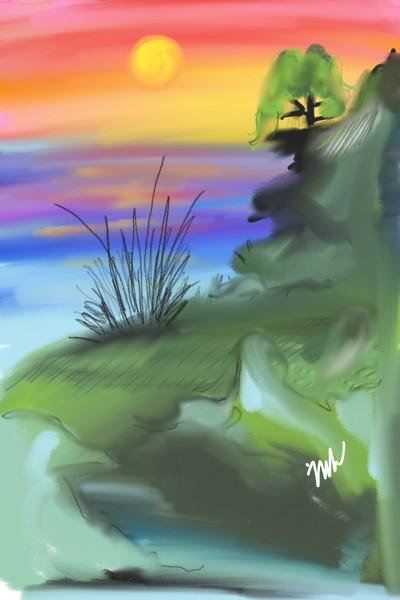 Landscape Digital Drawing | nik | PENUP