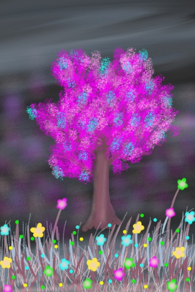 A strange tree in a sort of mysterious forest | Venkatesh | Digital Drawing | PENUP
