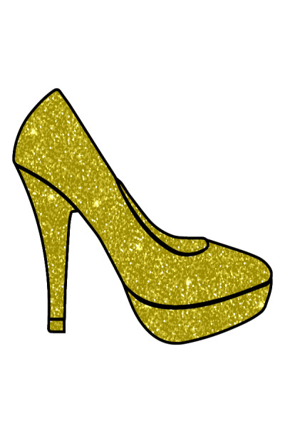 Gold  High  Heel  | Gaycouple | Digital Drawing | PENUP