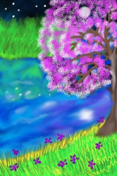 River in night | sulakshana | Digital Drawing | PENUP