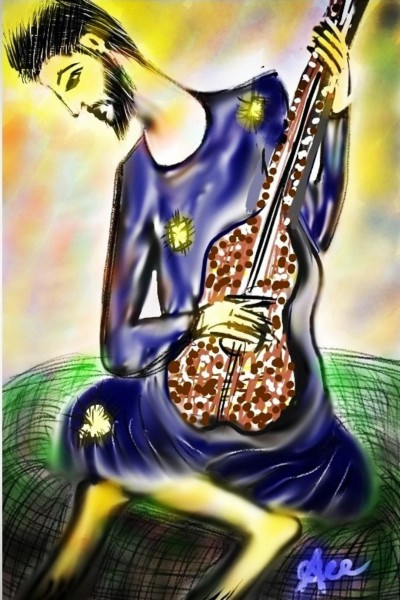 Young Guitarist - Inspired By Picasso | Pandit | Digital Drawing | PENUP