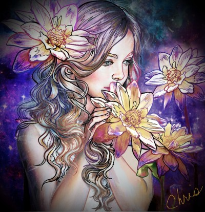 Flower girl  | Chris | Digital Drawing | PENUP