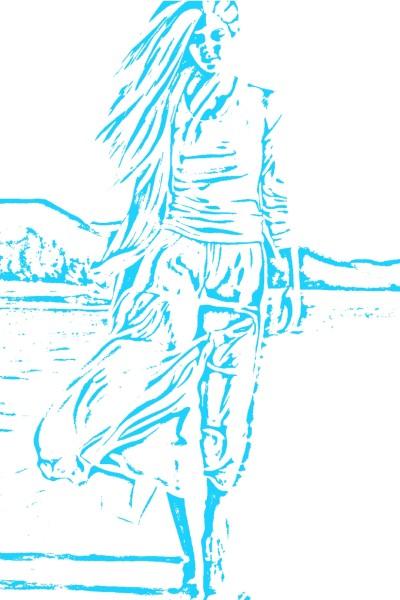 blue | horrer_fan | Digital Drawing | PENUP