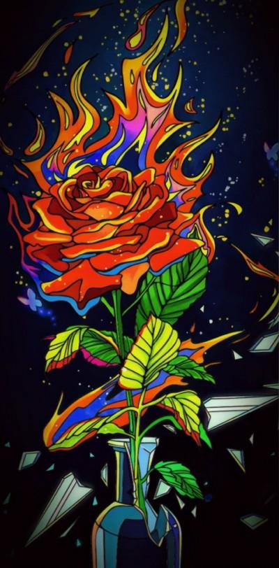 rose on fire | Chris | Digital Drawing | PENUP