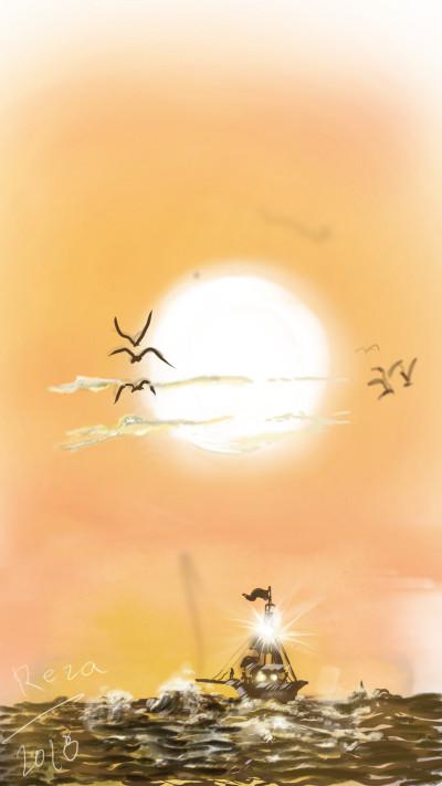 Sunset | RezaDadkhah | Digital Drawing | PENUP